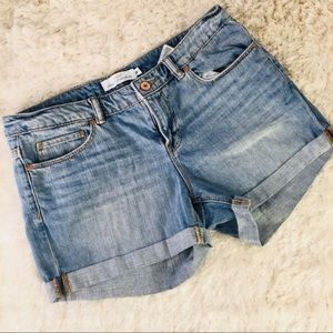H&M LOGG denim Cuffed Shorts Sz 28 Sz 2
